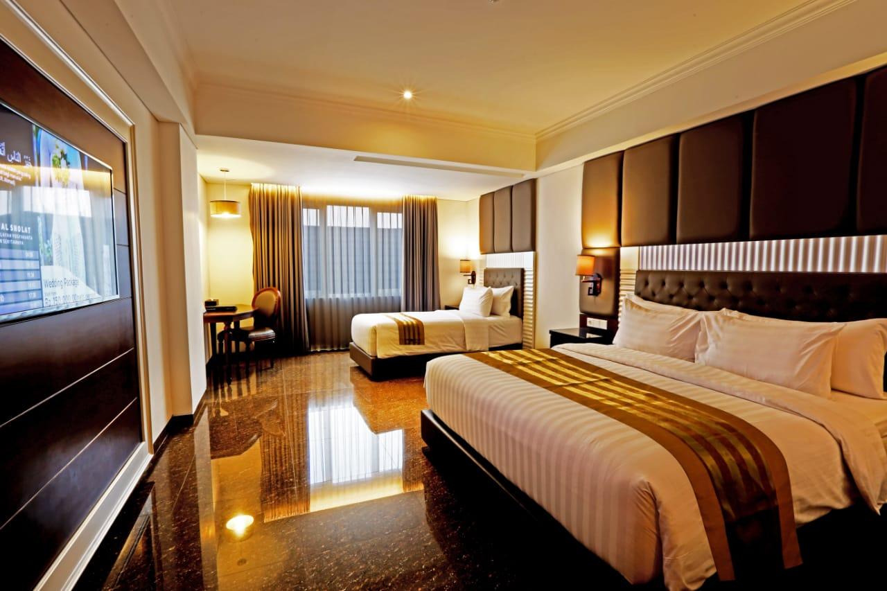 Fasilitas kamar di Grand Dafam Rohan Jogja, hotel bintang 4 syariah pertama dan satu-satunya di Yogyakarta. (Foto: Suryayogya.com/Gaga Salo)