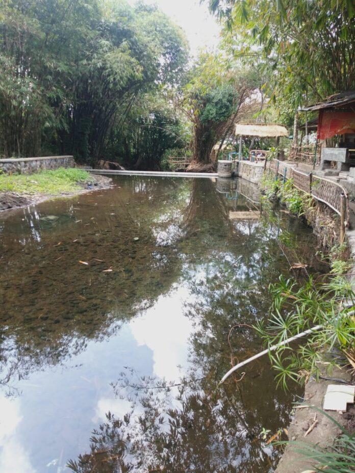 Kondisi tempat pemandian Blue Lagoon yang berlokasi di Desa Dalem Widomartani, Ngemplak, Sleman, Yogyakarta, Kamis (13/8/2020). Perlu perbaikan. (Foto: Suryayogya.com/Gaga Sallo)