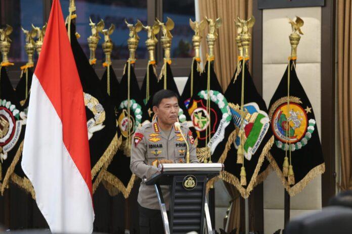 Kapolri Jenderal Idham Azis memimpin apel Kepala Satuan Wilayah (Kasatwil) seluruh Indonesia