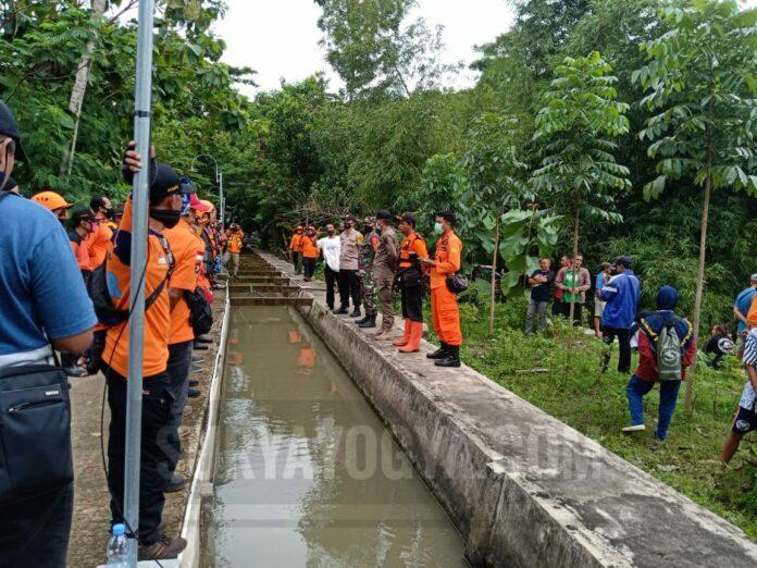 1 orang tenggelam di bendungan sungai Bendo Imogiri Kabupaten Bantul.