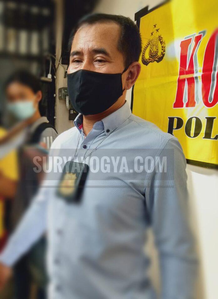 Kanit Reskrim Polsek Umbulharjo Iptu Nuri Ariyanto kepada awak media di Polsek Umbulharjo Jumat 22/01/2021. Foto: Gaga Sallo