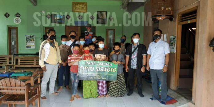 Jajaran Satuan Intelkam Polres Sleman Yogyakarta menyambangi Panti Asuhan