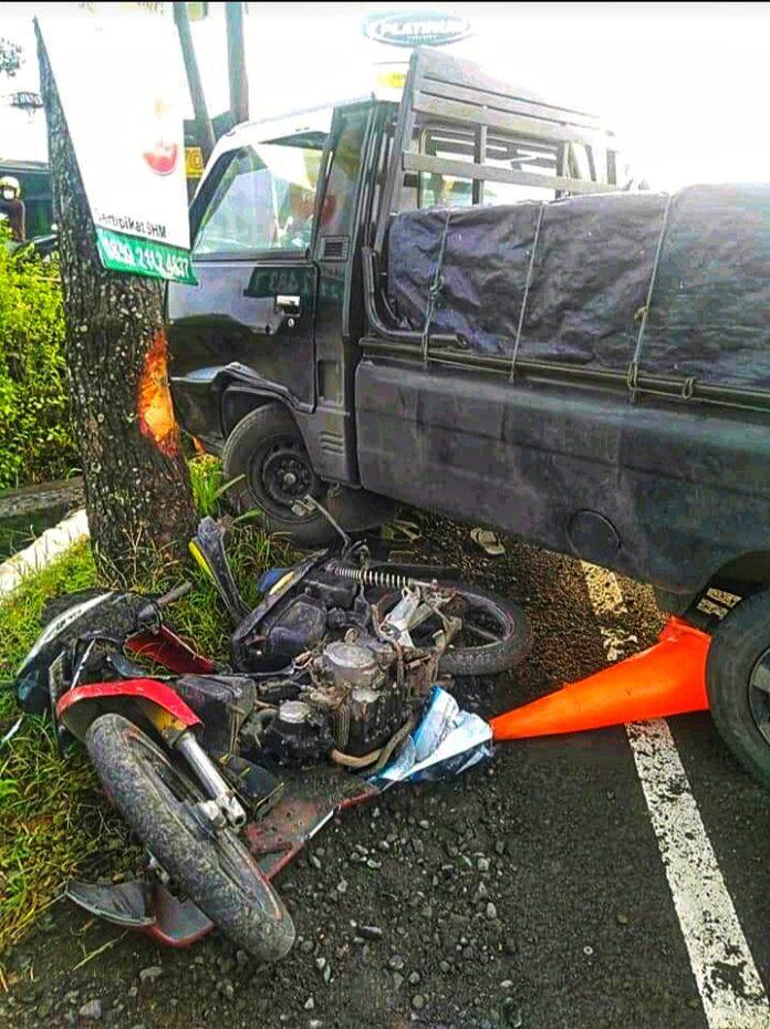 Kecelakaan lalulintas antara sepeda motor dan mobil kembali terjadi lagi tepatnya di Jalan Wates Km.7,5 depan RM. Padang Suryo Minang Desa Pasekan Balecatur Gamping Sleman, Yogyakarta pada Rabu tanggal 17 Februari 2021 sekira pukul 06.45 WIB.