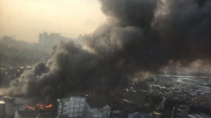 Pasar Kambing Tanah Abang Terbakar